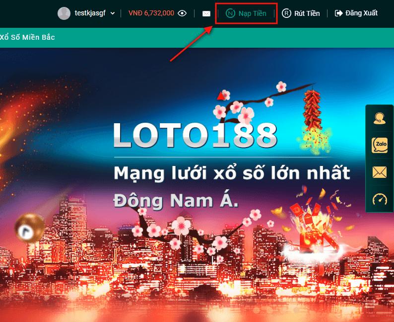 Hướng dẫn nạp rút tiền tại Loto188 - Nhà cái uy tín nhất Việt Nam