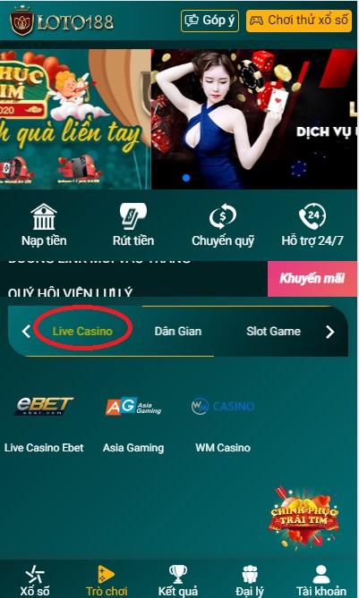 live casino loto188